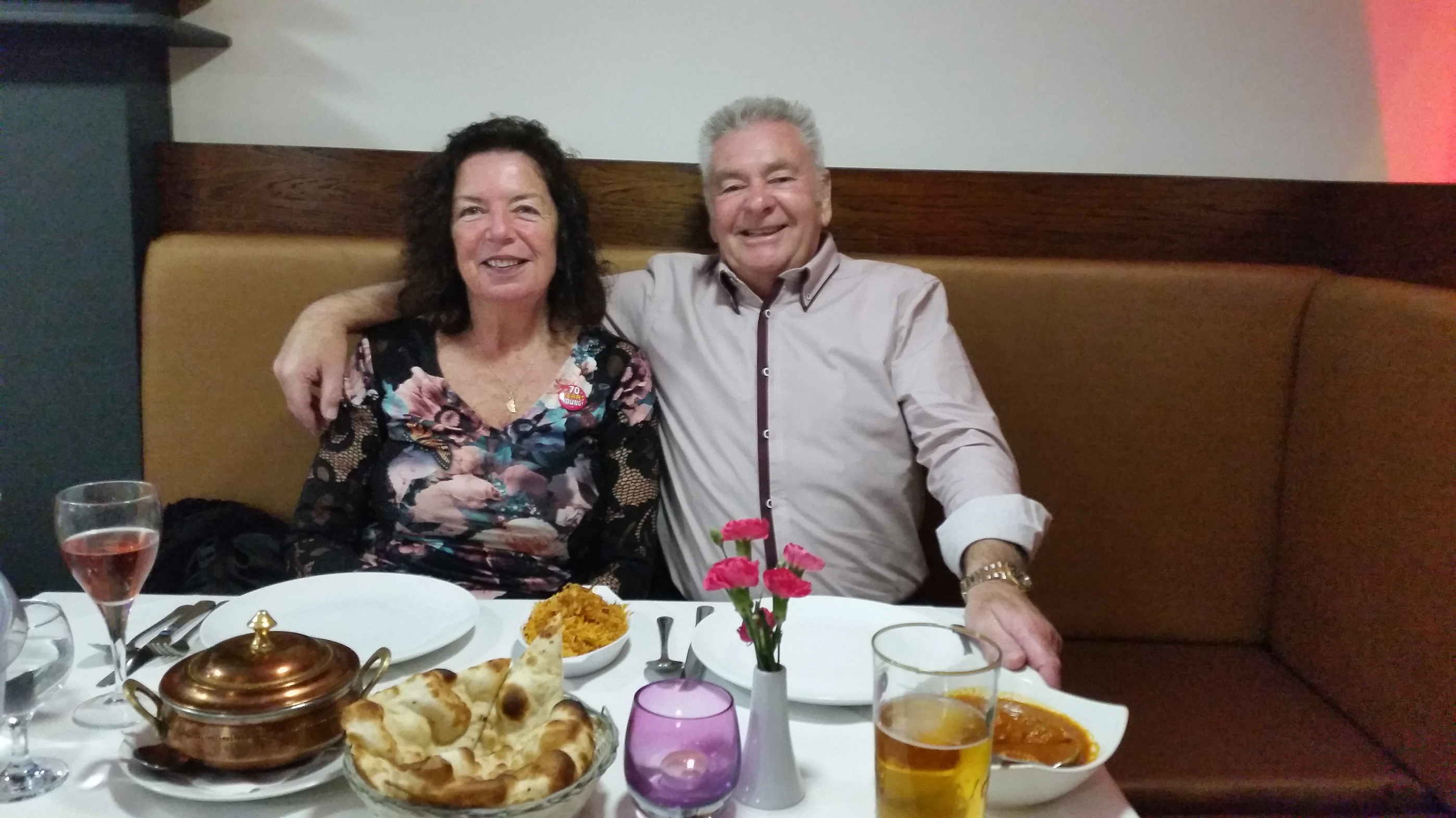 91  An Older  Couple Dinning at the Restuarant